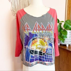 Junk Food Def Leppard Graphic Band Tee Size Small